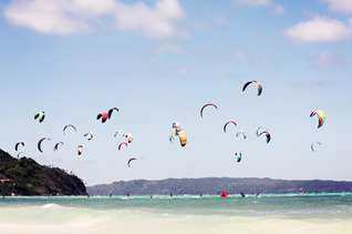 This is the perfect time of year for kite surfing